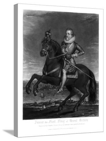 James I, King of Great Britain, 1816-Charles Turner-Stretched Canvas Print