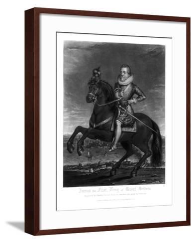 James I, King of Great Britain, 1816-Charles Turner-Framed Art Print