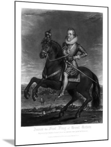 James I, King of Great Britain, 1816-Charles Turner-Mounted Giclee Print