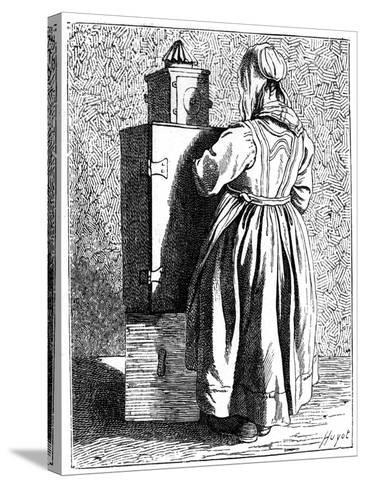 A Magic Lantern, 1737-1742- Bouchardon-Stretched Canvas Print