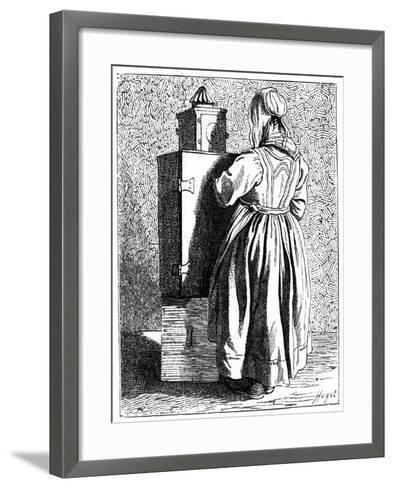 A Magic Lantern, 1737-1742- Bouchardon-Framed Art Print
