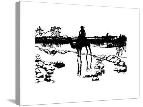 Silhouette for 'Ombres Chinoisses' from L'Epopee, 1898-Caran D'Ache-Stretched Canvas Print