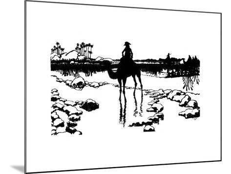 Silhouette for 'Ombres Chinoisses' from L'Epopee, 1898-Caran D'Ache-Mounted Giclee Print