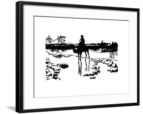 Silhouette for 'Ombres Chinoisses' from L'Epopee, 1898-Caran D'Ache-Framed Art Print