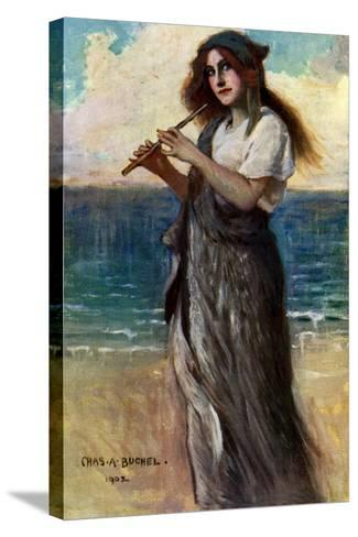 Nancy Price (1880-197), English Actress, as 'Pallas Athene' in Ulysses, 1902-Charles A Buchel-Stretched Canvas Print