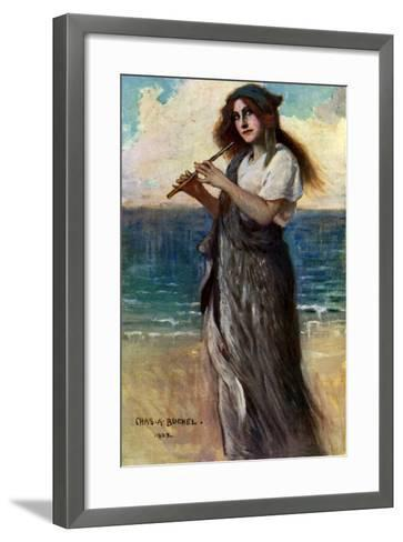 Nancy Price (1880-197), English Actress, as 'Pallas Athene' in Ulysses, 1902-Charles A Buchel-Framed Art Print