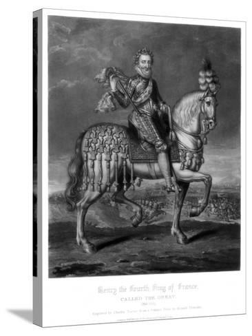 Henry IV, King of France-Charles Turner-Stretched Canvas Print