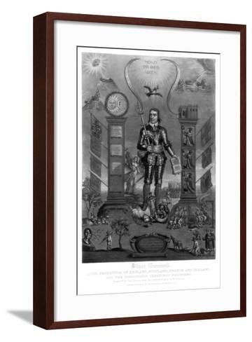 Oliver Cromwell, English Soldier and Statesman-Charles Turner-Framed Art Print