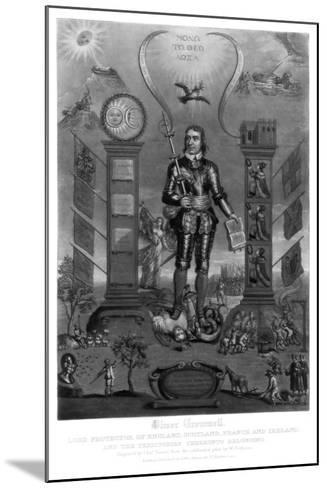 Oliver Cromwell, English Soldier and Statesman-Charles Turner-Mounted Giclee Print