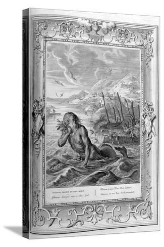 Glaucus Turned into a Sea God, 1733-Bernard Picart-Stretched Canvas Print