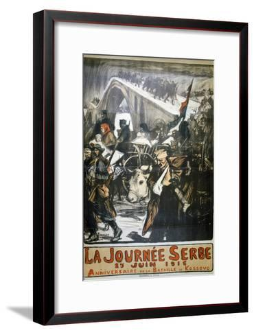 25 June 1916 - Serbia Day, French World War I Poster, 1916-Charles Fouqueray-Framed Art Print