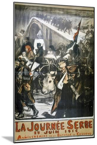 25 June 1916 - Serbia Day, French World War I Poster, 1916-Charles Fouqueray-Mounted Giclee Print
