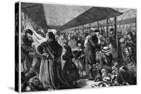 The Old Clothes Exchange, Phil's Building, Houndsditch, London, 1882-Charles Joseph Staniland-Stretched Canvas Print