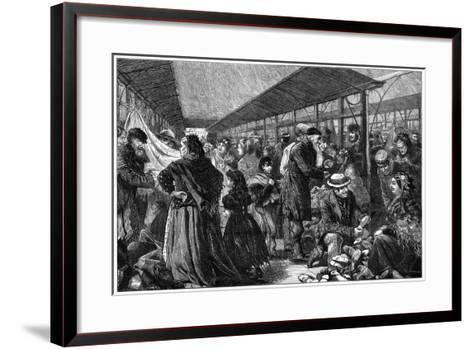 The Old Clothes Exchange, Phil's Building, Houndsditch, London, 1882-Charles Joseph Staniland-Framed Art Print
