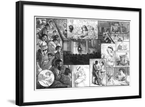 An Entertainment at King's College Hospital, 1885-Charles Joseph Staniland-Framed Art Print