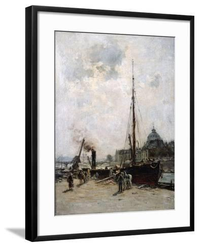 View of the Institute, 19th Century-Charles Lapostolet-Framed Art Print