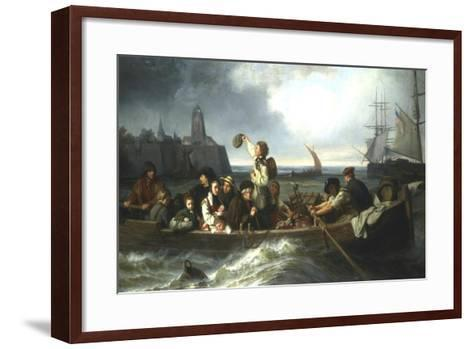 Emigration to America, 19th Century-Charles Volkmar-Framed Art Print