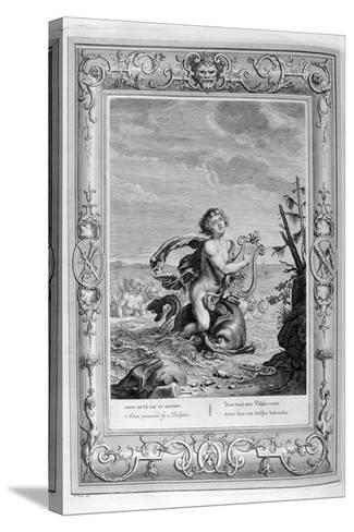 Arion Saved by a Dolphin, 1733-Bernard Picart-Stretched Canvas Print