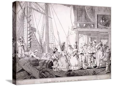 Dice Quay, Lower Thames Street, London, 1788-Charles Ansell-Stretched Canvas Print