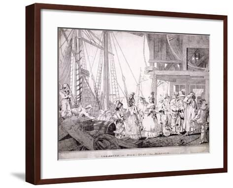 Dice Quay, Lower Thames Street, London, 1788-Charles Ansell-Framed Art Print