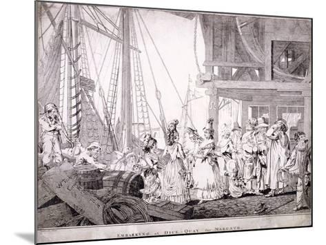 Dice Quay, Lower Thames Street, London, 1788-Charles Ansell-Mounted Giclee Print