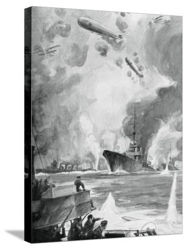 Cuxhaven Raid, 25 December 1914-Charles Fouqueray-Stretched Canvas Print