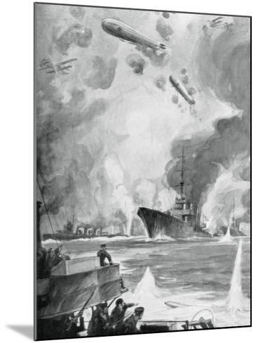 Cuxhaven Raid, 25 December 1914-Charles Fouqueray-Mounted Giclee Print