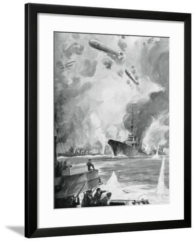 Cuxhaven Raid, 25 December 1914-Charles Fouqueray-Framed Art Print
