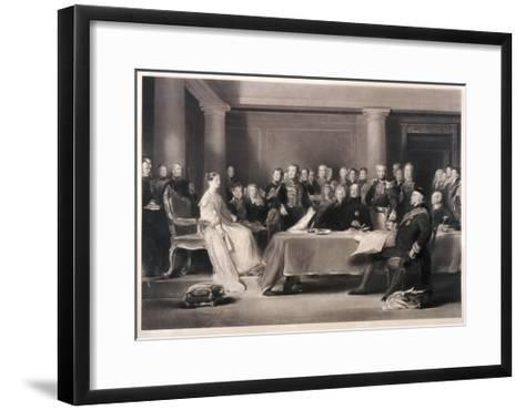 Queen Victoria Presiding at the Council on Her Accession to the Throne, 1846-Charles Fox-Framed Art Print