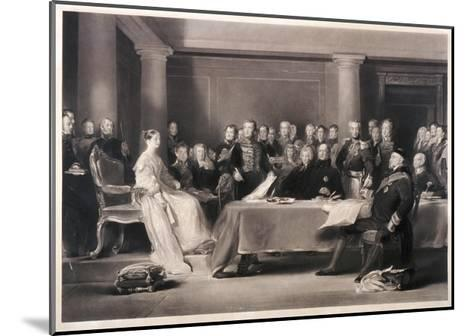 Queen Victoria Presiding at the Council on Her Accession to the Throne, 1846-Charles Fox-Mounted Giclee Print