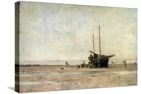The Seashore, End of the 1860S Early 1870S-Charles François Daubigny-Stretched Canvas Print