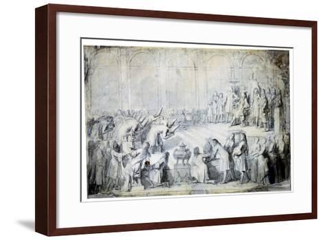 The Siamese Ambassadors before the King, 1686-Charles Le Brun-Framed Art Print