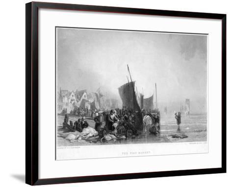 The Fish Market, C1820S-Charles Lewis-Framed Art Print