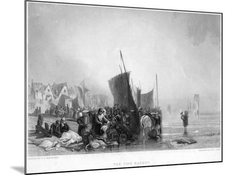 The Fish Market, C1820S-Charles Lewis-Mounted Giclee Print