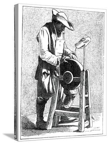 Knife Grinder, 1737-1742- Bouchardon-Stretched Canvas Print