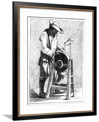 Knife Grinder, 1737-1742- Bouchardon-Framed Art Print