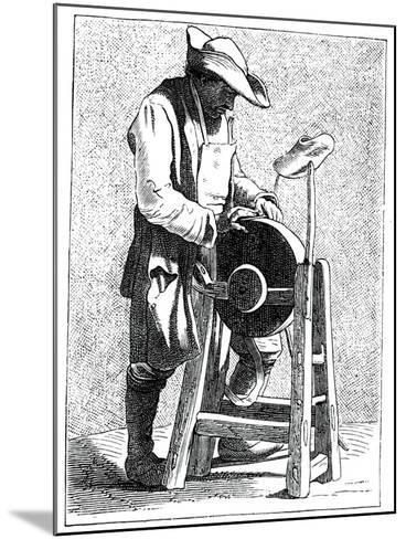 Knife Grinder, 1737-1742- Bouchardon-Mounted Giclee Print