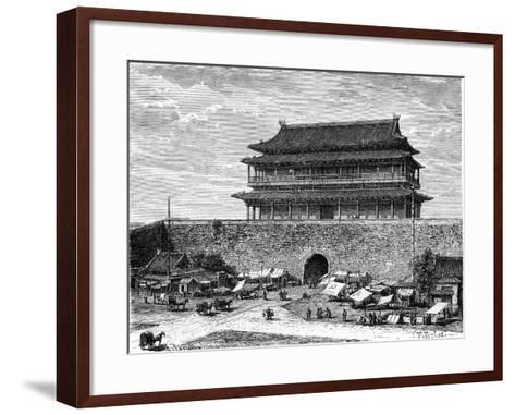 Tiananmen Gate, Peking, China, 19th Century-C Laplante-Framed Art Print