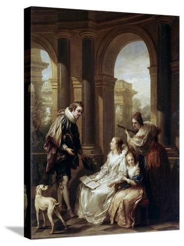 The Spanish Concert, 1754-Carle van Loo-Stretched Canvas Print