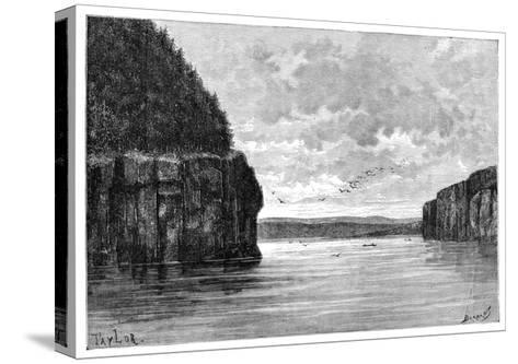 The Angara River, Below the Padunskiy Rapids, Siberia, Russia, 1895-Charles Barbant-Stretched Canvas Print