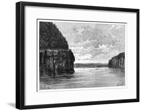 The Angara River, Below the Padunskiy Rapids, Siberia, Russia, 1895-Charles Barbant-Framed Art Print
