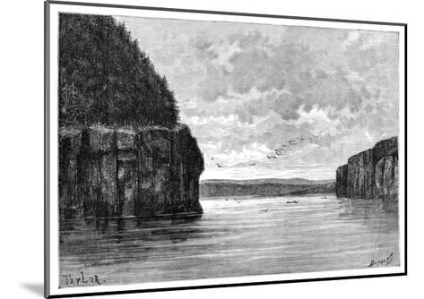 The Angara River, Below the Padunskiy Rapids, Siberia, Russia, 1895-Charles Barbant-Mounted Giclee Print