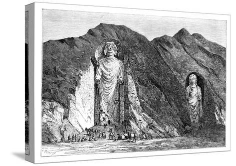 Colossal Idols, Upper Bamlan Valley, Afghanistan, 1895-Charles Barbant-Stretched Canvas Print