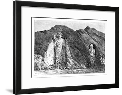 Colossal Idols, Upper Bamlan Valley, Afghanistan, 1895-Charles Barbant-Framed Art Print