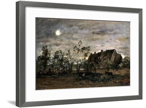 Evening in Honfleur, 1860S-Charles François Daubigny-Framed Art Print