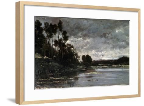 The River Bank, 1866-Charles François Daubigny-Framed Art Print