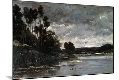 The River Bank, 1866-Charles François Daubigny-Mounted Giclee Print
