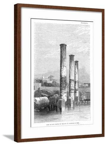 Temple of Serapis at Puzzuoli in 1183, Charles Lyell-Charles Lyell-Framed Art Print