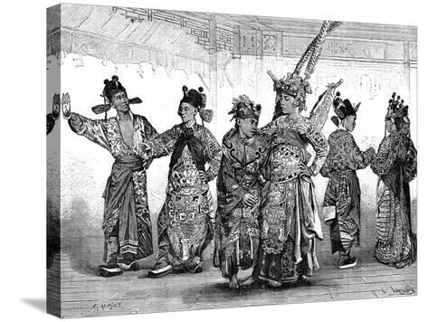 Chinese Tragedian Actors, 19th Century-C Laplante-Stretched Canvas Print
