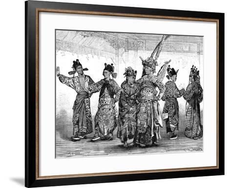 Chinese Tragedian Actors, 19th Century-C Laplante-Framed Art Print